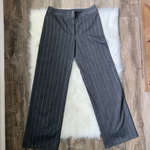 Armani Collezioni Grey Wool Wide Leg Pants - 4